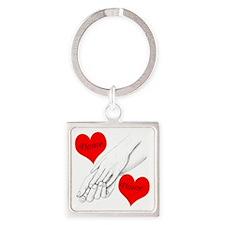 Custom Romance Square Keychain