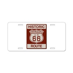 Rialto Route 66 Aluminum License Plate
