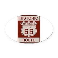 Rialto Route 66 Oval Car Magnet