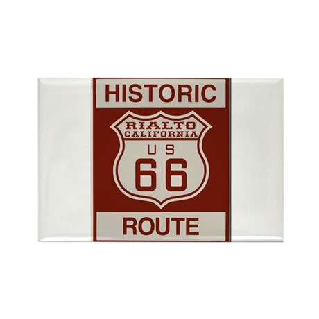 Rialto Route 66 Rectangle Magnet (10 pack)