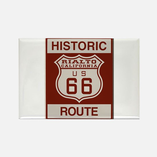 Rialto Route 66 Rectangle Magnet