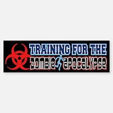 Training for the Zombie Apocalypse Running Bumper Bumper Sticker