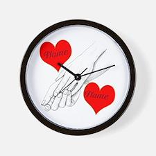 Custom Romance Wall Clock