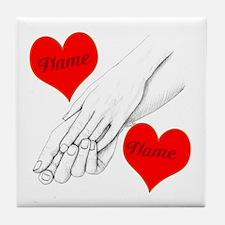 Custom Romance Tile Coaster