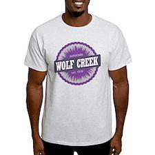 Wolf Creek Ski Resort Colorado Purple T-Shirt