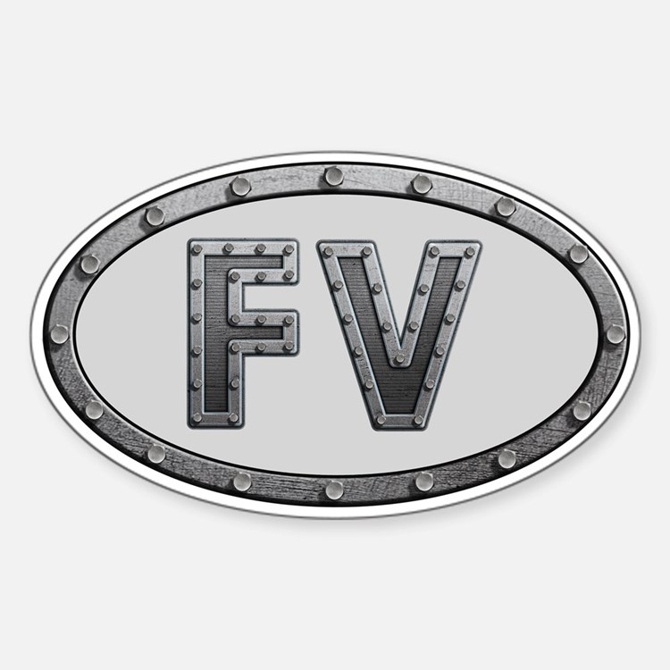 FV Metal Sticker (Oval)