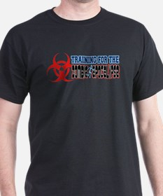 Training for the Zombie Apocalypse Running T-Shirt
