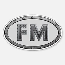 FM Metal Sticker (Oval)