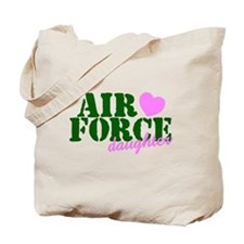 AF Daughter Green Pink Heart Tote Bag