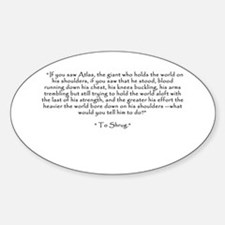 """Who is John Galt? """"To Shrug"""" Quote Decal"""