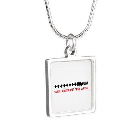 Cheat Code Silver Square Necklace