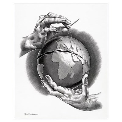 Healing the world, conceptual artwork Poster