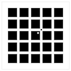 Hermann-Hering illusion Poster