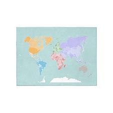 World Map - Modern Design - 5'x7'Area Rug