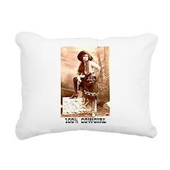 Cowgirl Rectangular Canvas Pillow