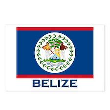 Belize Flag Merchandise Postcards (Package of 8)