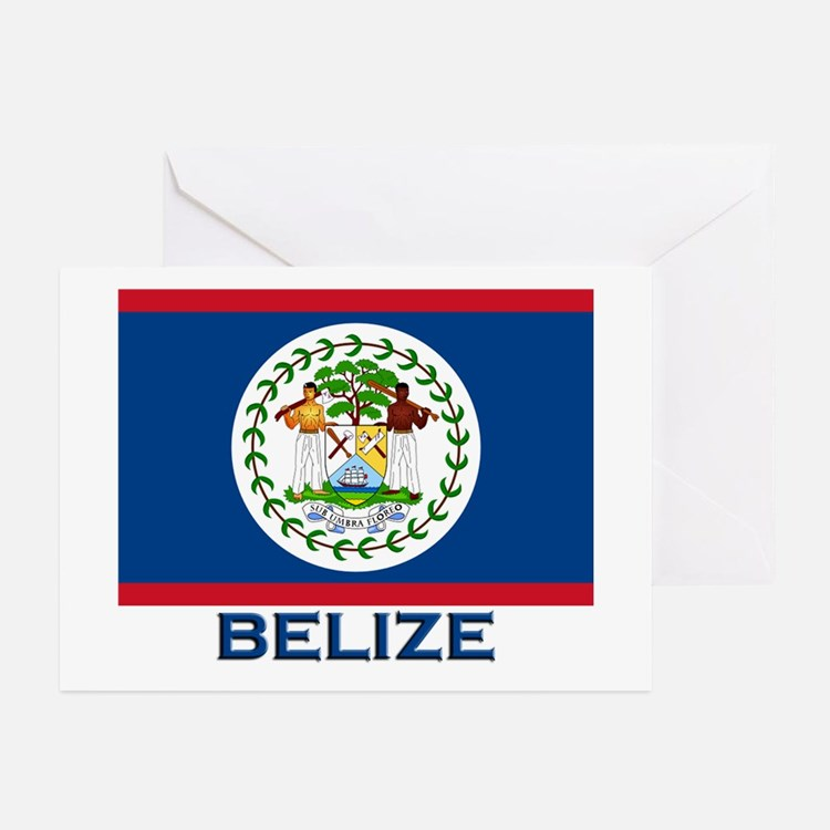 Belize Flag Merchandise Greeting Cards (Package of