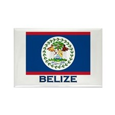 Belize Flag Merchandise Rectangle Magnet