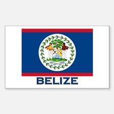 Belize Flag Merchandise Rectangle Decal