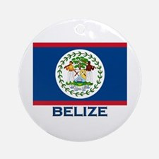 Belize Flag Merchandise Ornament (Round)