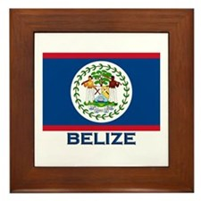 Belize Flag Merchandise Framed Tile