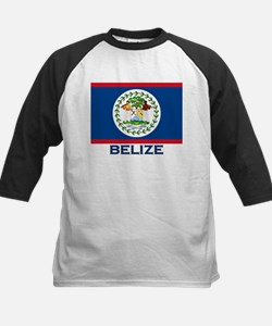 Belize Flag Merchandise Kids Baseball Jersey