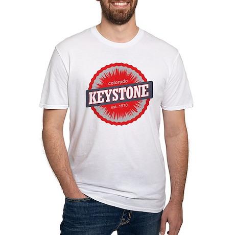 Keystone Ski Resort Colorado Red Fitted T-Shirt