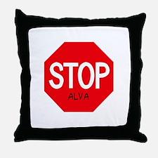Stop Alva Throw Pillow