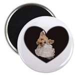 YORKIE TERRIER HEART SHAPE LOOK Magnet