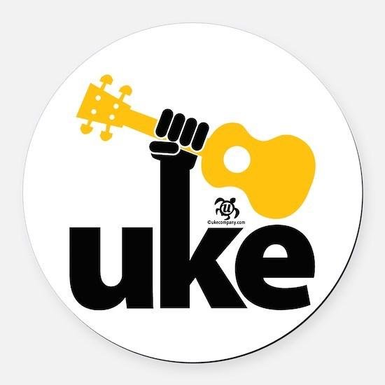 Uke Fist Round Car Magnet