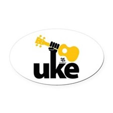 Uke Fist Oval Car Magnet