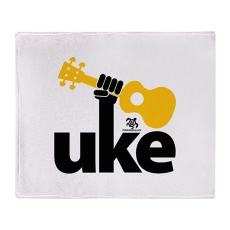 Uke Fist Throw Blanket