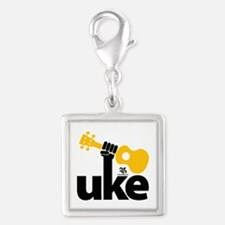 Uke Fist Silver Square Charm