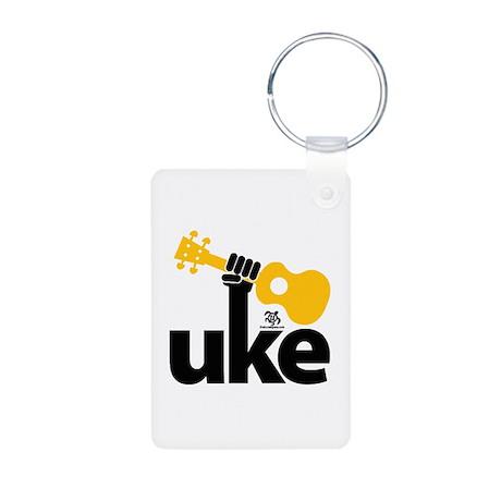 Uke Fist Aluminum Photo Keychain