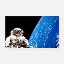Astronaut performing a spacewalk - Car Magnet