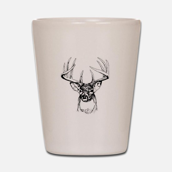 Big Buck Shot Glass