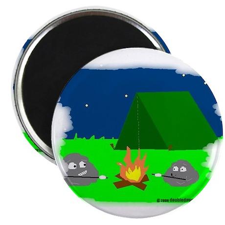 ROASTING MARSHMELLOWS AT CAMP Magnet