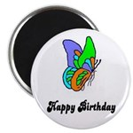 HAPPY BIRTHDAY BUTTERFLY LOOK Magnet