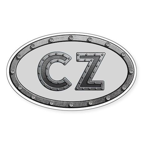 CZ Metal Sticker (Oval)