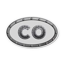 CO Metal Oval Car Magnet