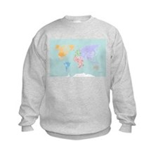 World Map - Modern Design Sweatshirt