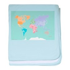 World Map - Modern Design baby blanket
