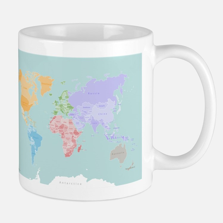 World Map - Modern Design Mug