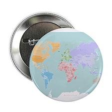 """World Map - Modern Design 2.25"""" Button"""