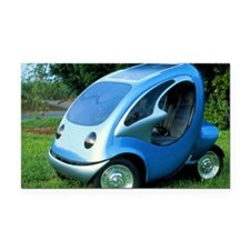 Electric car with solar panels - Car Magnet