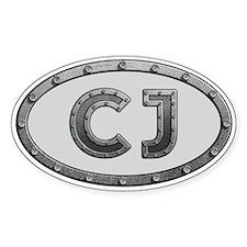 CJ Metal Decal