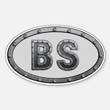 BS Metal Sticker (Oval)
