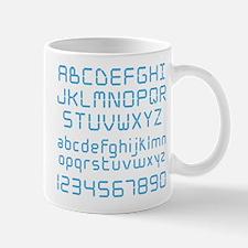 Digital Font Mug