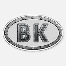 BK Metal Sticker (Oval)