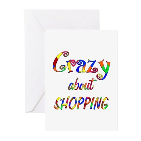 Crazy About Shopping Greeting Cards (Pk of 10)